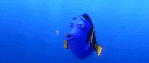 Dory freaks out