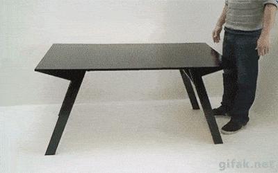mesa que vira mesinha de centro